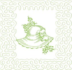 Garden Hat Block embroidery design