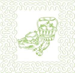 Garden Fun Block embroidery design