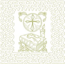Religious Bible Block embroidery design