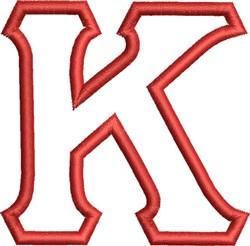Greek Font Kappa embroidery design