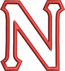 Greek Font Nu embroidery design