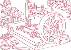 Sewing Machine Block embroidery design