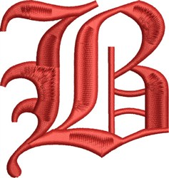 Grand English Monogram B embroidery design