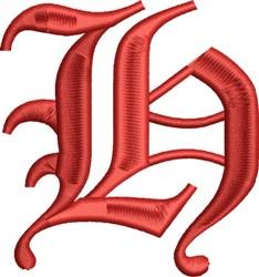 Grand English Monogram H embroidery design