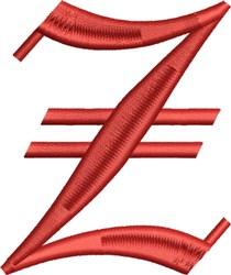 Grand English Monogram Z embroidery design