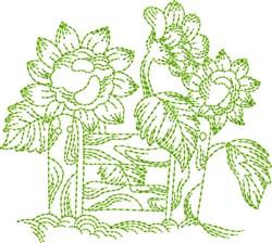Garden Fence Block embroidery design