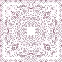 Infinity Quilt Block embroidery design