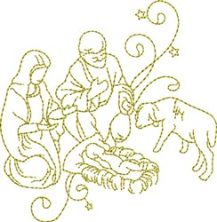 Christmas Time Noel embroidery design
