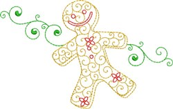 Christmas Gingerbread Man embroidery design