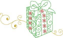 Christmas Gift Box embroidery design