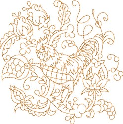 Quilt Hen embroidery design