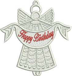 Birthday Angel FSL embroidery design