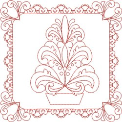 Christmas Quilt Block embroidery design
