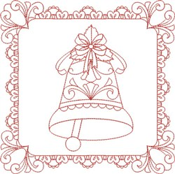 Christmas Bell Quilt embroidery design