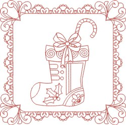 Christmas Stocking Block embroidery design