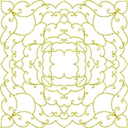 Elegant Quilt Block embroidery design