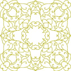 Elegant Swirl Block embroidery design