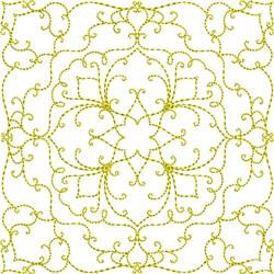 Elegant Swirl Square embroidery design