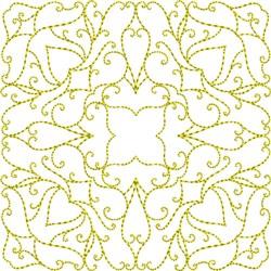 Swirl Square Block embroidery design