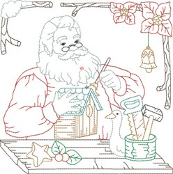 Santas Workshop Quilt Blocks embroidery design