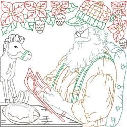 Santas Workshop Quilt Blocks embroidery design