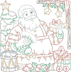 Santas Workshop Quilt Block embroidery design