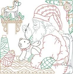Santas Workshop Quilt Block embroidery design