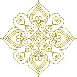 Snowflake Motif Quilt Block embroidery design