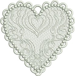 FSL Valentine Heart embroidery design