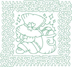 St. Patricks Quilt Block embroidery design