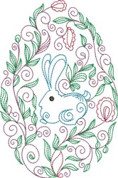 Decorative Easter Egg embroidery design