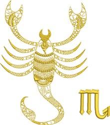 Scorpio Zodiac Quilt Block embroidery design