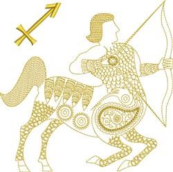 Sagittarius Zodiac Quilt Block embroidery design