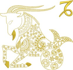 Capricorn Zodiac Quilt Block embroidery design
