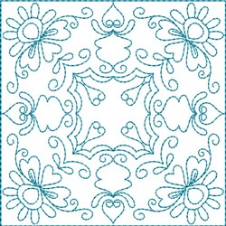 Flower Quilt Block embroidery design