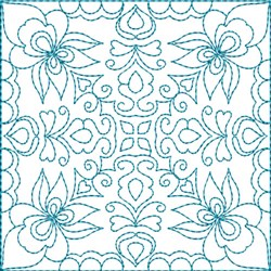 Quilt Block Florals embroidery design