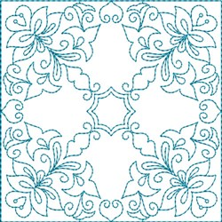 Quilt Flower Square embroidery design