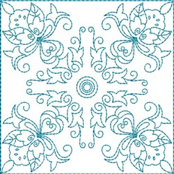 Quilt Floral Square embroidery design