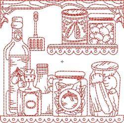 Kitchen Shelf Quilt Block embroidery design