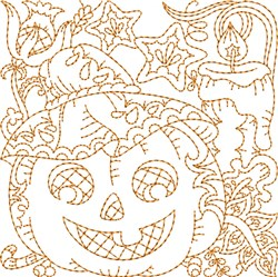 Fall Pumpkin embroidery design