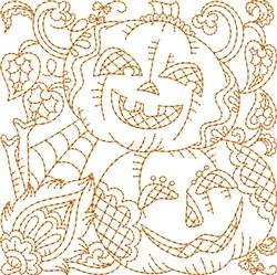 Pumpkins Block embroidery design