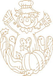 Scarecrow Blocks embroidery design