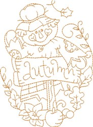 Autumn Scarecrow embroidery design