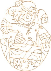 Scarecrow Quilt Block embroidery design