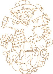 Scarecrow  Outline embroidery design