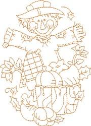 Scarecrow  Outline embroidery design