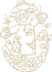 Fall Scarecrow embroidery design