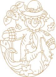 Autumn Scarecrow embroidery design