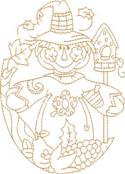 Harvest Scarecrow embroidery design
