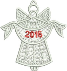 Free Standing 2016 Angel embroidery design